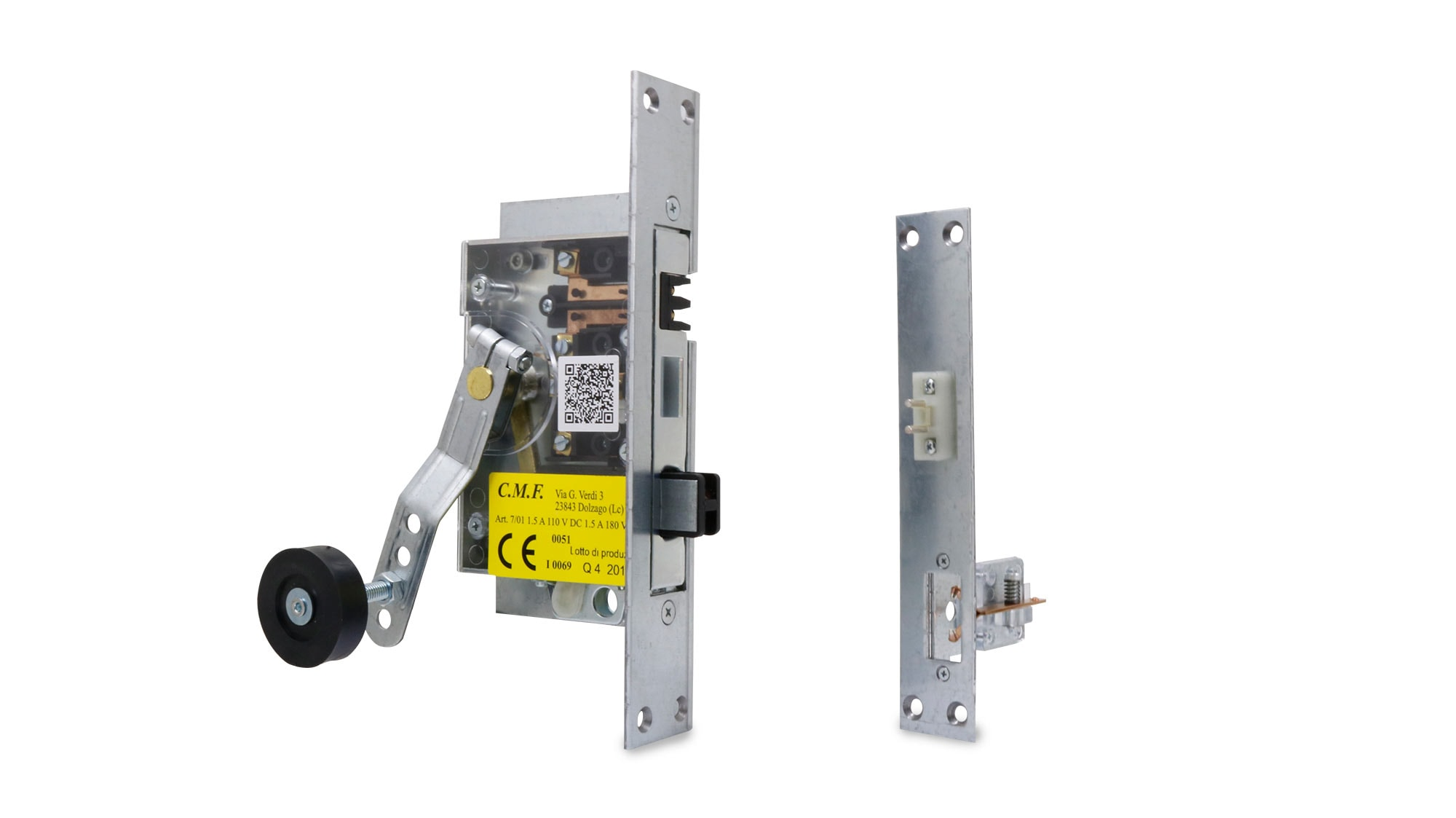 Kit for the substitution of semiautomatic Schindler lock for wood doors
